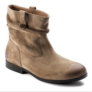 Birkenstock Sarnia Suede Leather Scrunch Bootie